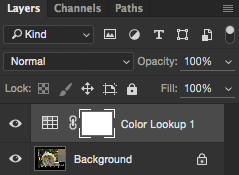 Color Lookup Created