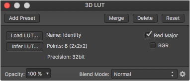 Load LUT Affinity Photo