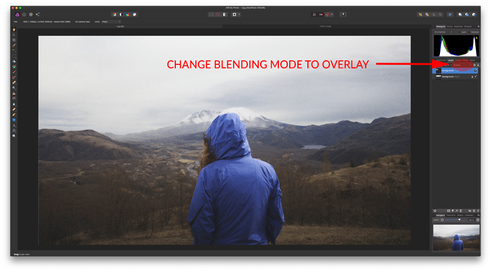 Select Overlay Blending Mode