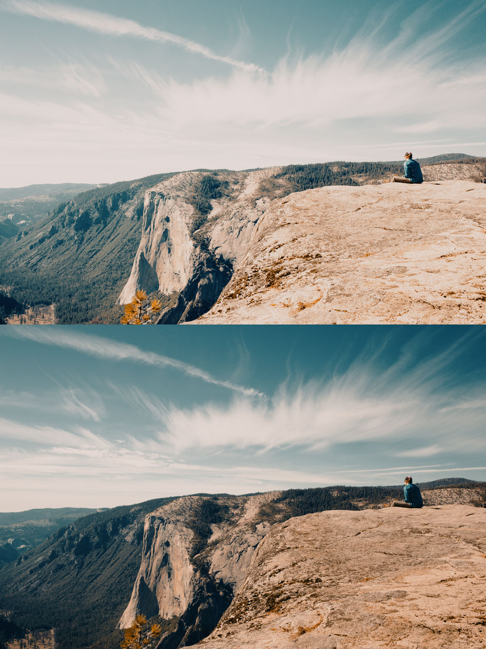 In this example we can see the same LUT applied to a properly exposed image (bottom) and over exposed image (top). As we can clearly see, over exposed image does not yield expected result.